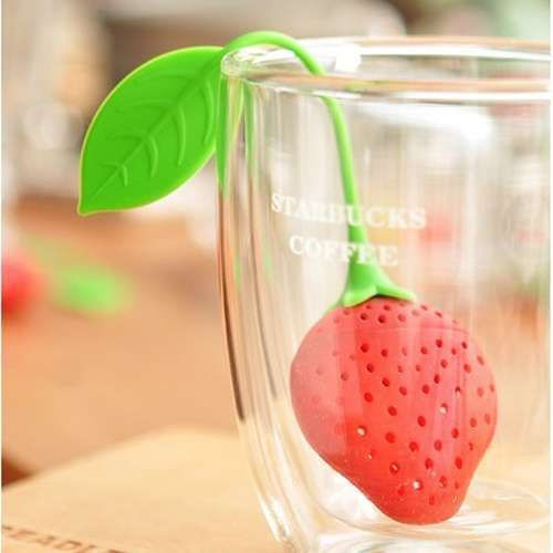 1pc Cute Teacup Teapot Tea Infuser Bag Filter Strainer Strawberry Pear Silicone
