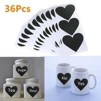 k4lV-Black Cup Bottle Decor Chalkboard Label Kitchen Chalk Pen Stickers Sticky Decal Wall