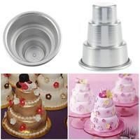 k4pZ-Mini 3-Tier Cupcake Pudding Chocolate Cake Mold Baking Pan Mould Party