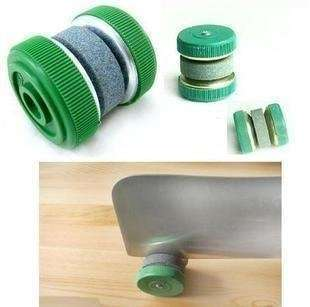 1 X Compact Round Easy-to-use Knife Sharpener Grinder Stones (Size: 35mm by 35mm)-2