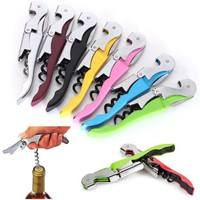k5ab-Hot Sale Velvet Touch Waiters Double Hinge Corkscrew Wine Key Bottle Opener