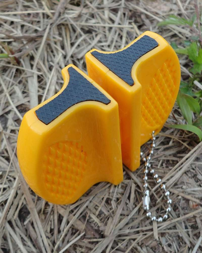 Portable Ceramic Rod Tungsten Steel Camp Pocket Kitchen Knife Sharpener Tool-4