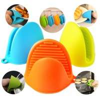 k871-Silicone Mitt Pot Holder Glove Grip Kitchen Oven Heat Resistant Baking Heat Proof Resistant Gloves Mitts