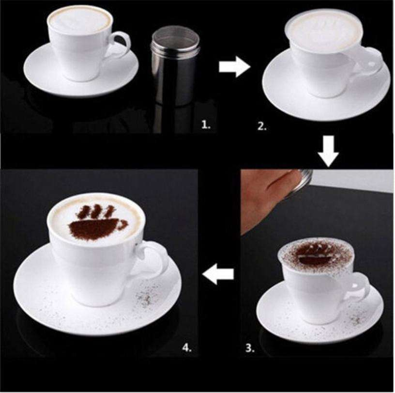 16 PCS Set New Creative Plastic Garland Mold Fancy Coffee Printing Model Thick Coffee Foam Spray-4