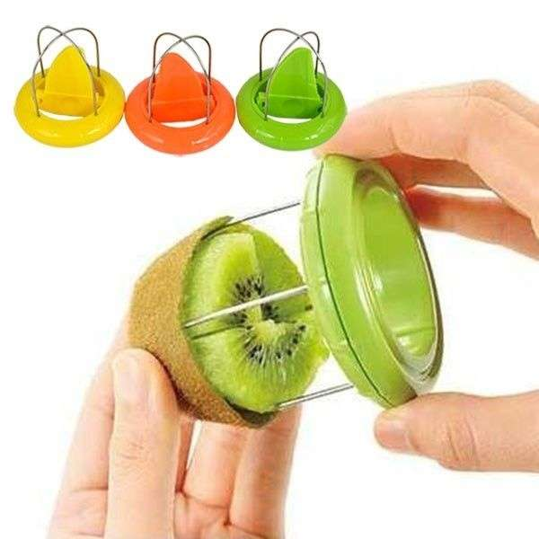 New Stainless Steel Kiwi Easy Peeler Cutter Knife Fruit Dig Kitchen Tool 2in1