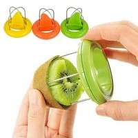 kGyZ-New Stainless Steel Kiwi Easy Peeler Cutter Knife Fruit Dig Kitchen Tool 2in1