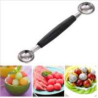 kL4u-Dual Double End Stainless Steel Melon Fruit Baller Scoop Ice Cream Desert Spoon
