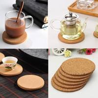 kLzX-5pcs Cup Mat Round Place Mat Coasters Wine Table Mats New Cork Chic Plain Drink Hot Coffee Tea Creative Pop