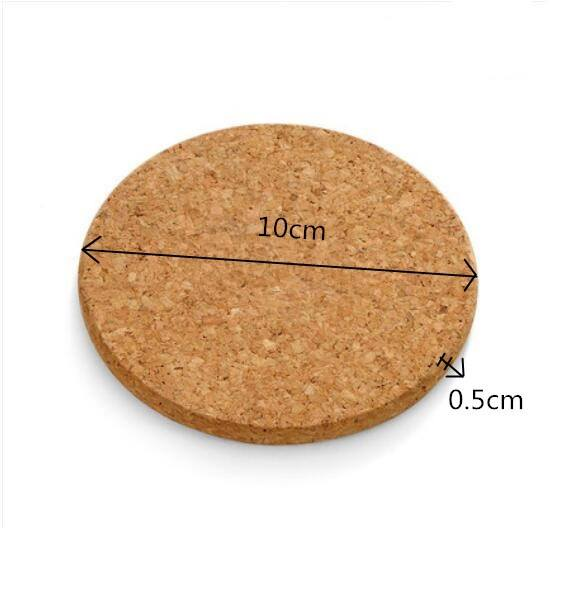 5pcs Cup Mat Round Place mat Coasters Wine Table mats New Cork Chic Plain Drink Hot Coffee Tea Creative Pop-1