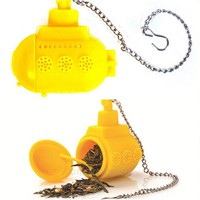 kPHv-Teasub Shaped Tea Strainer Tea Infuser Tea Filter Tea Bag Randomly Color