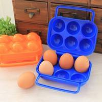 kRZn-Outdoor Picnic Portable Plastic 6 Case Egg Case Egg Box