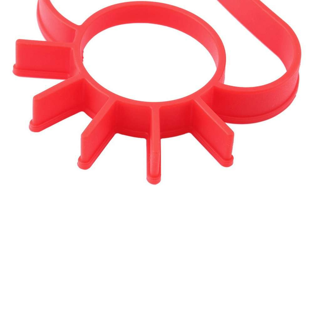 TA Silicone Cute Sun & Cloud Fried Egg Shaper Eggs Mould for Cooking Breakfast TE (Color: Red)-3