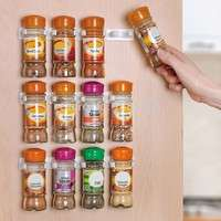 kUVW-Kitchen 20 Cabinet Door Hooks Spice Wall Rack Storage (Color: White)