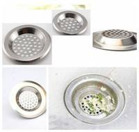 kVzJ-2 PCS Stainless Steel Sink Strainer Bathtub Drain Plug Anti-hair Every Other Residue