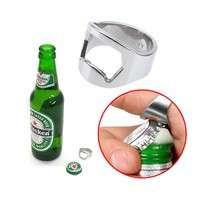 kXVC-Silver Stainless Steel Finger Ring Bottle Opener Beer VTN6