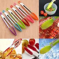 kahe-Silicone Cooking Salad Serving Stainless Steel Handle Utensil