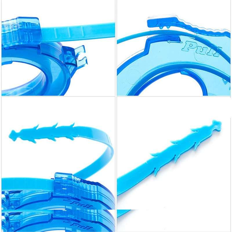 Drain Sink Cleaner Bathroom Unclog Sink Tub Toilet Snake Brush Hair Removal Tool(Blue) (Color: Blue)-4