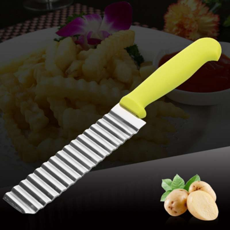 Potato Wavy Edged Knife Stainless Steel Kitchen Gadget Vegetable Fruit Cutting Peeler Cooking Tool Accessories-5