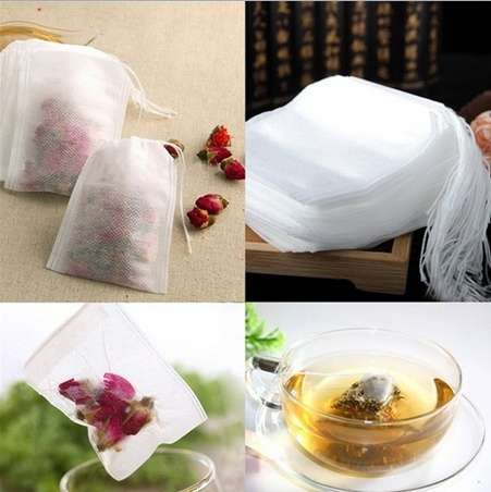100pcs Empty Teabags String Heat Seal Filter Paper Herb Loose Tea Bag 5.5 x 6cm-3