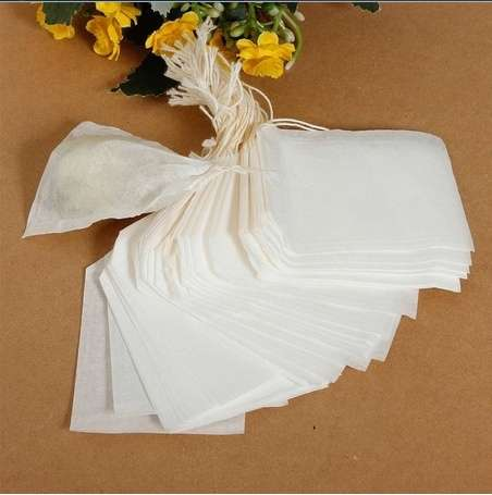 100pcs Empty Teabags String Heat Seal Filter Paper Herb Loose Tea Bag 5.5 x 6cm-5
