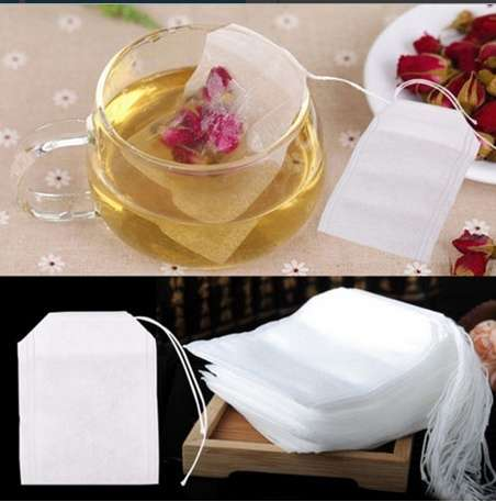 100pcs Empty Teabags String Heat Seal Filter Paper Herb Loose Tea Bag 5.5 x 6cm-9