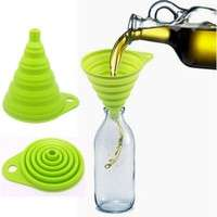 kuKL-Silicone Gel Practical Collapsible Formidable Funnel Hopper Kitchen Tool Gadget Wonderful