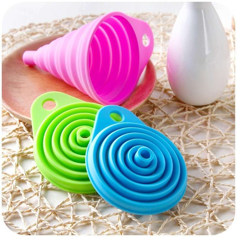 Silicone Gel Practical Collapsible Formidable Funnel Hopper Kitchen Tool Gadget Wonderful-1