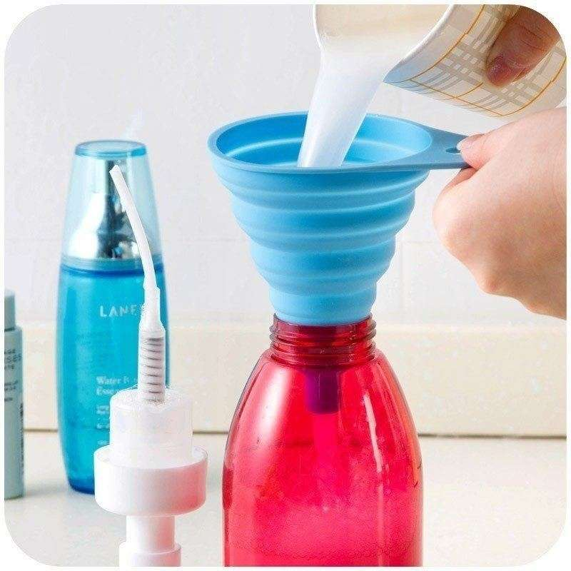 Silicone Gel Practical Collapsible Formidable Funnel Hopper Kitchen Tool Gadget Wonderful-2