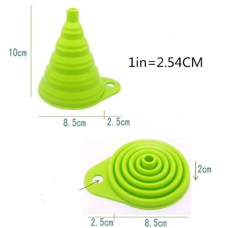 Silicone Gel Practical Collapsible Formidable Funnel Hopper Kitchen Tool Gadget Wonderful-6