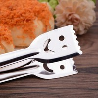 kw8t-Stainless Steel Smile Face Pattern Tools Food Bread Outdoor Camping Kitchen