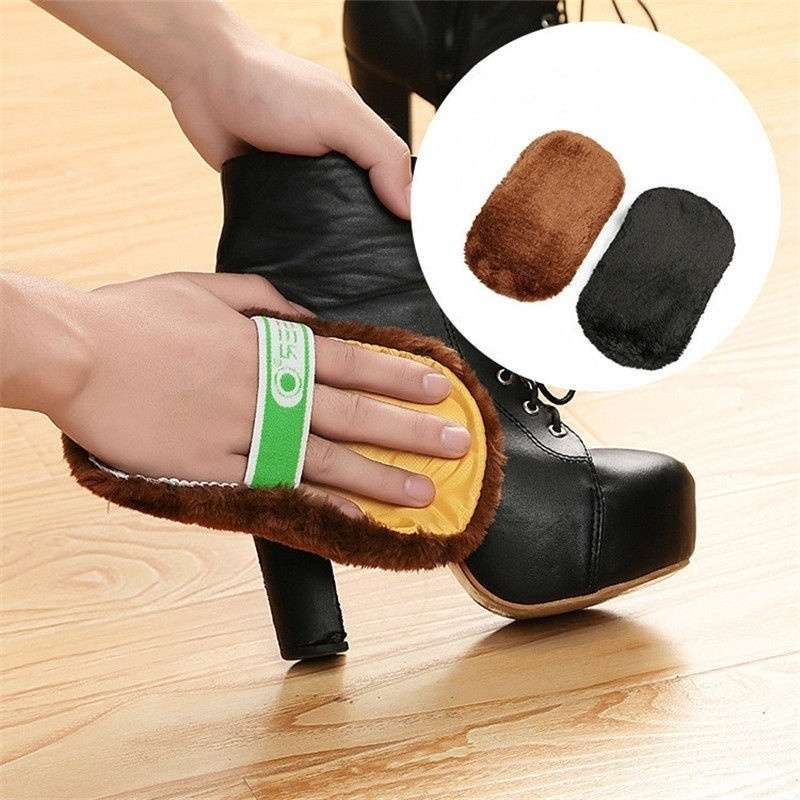 Cleaning Gloves Shoe Care Shoe Brush Home Soft Wool Polishing Shoes Cleaning Gloves