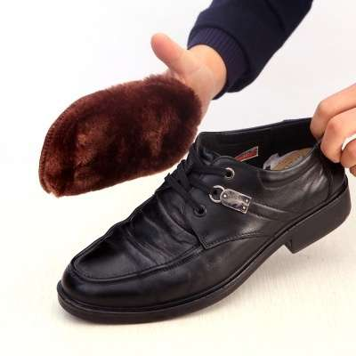 Cleaning Gloves Shoe Care Shoe Brush Home Soft Wool Polishing Shoes Cleaning Gloves-11