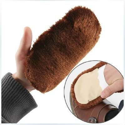 Cleaning Gloves Shoe Care Shoe Brush Home Soft Wool Polishing Shoes Cleaning Gloves-4