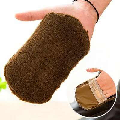 Cleaning Gloves Shoe Care Shoe Brush Home Soft Wool Polishing Shoes Cleaning Gloves-7