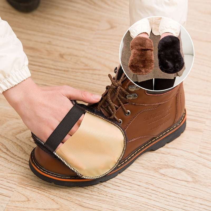 Cleaning Gloves Shoe Care Shoe Brush Home Soft Wool Polishing Shoes Cleaning Gloves-8