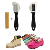 slIN-3-Sides Cleaning Brush For Suede Nubuck Shoes Boot Cleaner