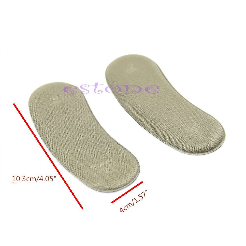 5 Pairs Shoe Back Heel Inserts Insoles Sticky Fabric-3