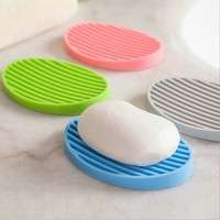 tHlP-Creative Silicone Flexible Toilet Soap Holder Plate Bathroom Soapbox Soap Dish