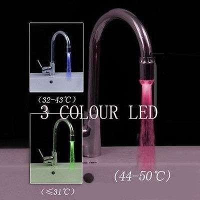 Small Sensor LED Light Water Faucet Tap for Kitchen/Bathroom Lamp Unique-3
