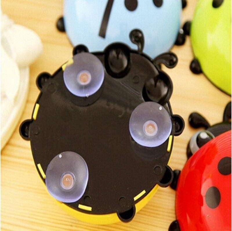 1x New Cute Funny Cartoon Yellow/Red/Blue/Green Ladybug Sucker Suction Hook Tooth Brush Holder-2