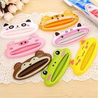 tjpE-1pcs Cute Animal Multifunction Toothpaste Squeezer Bathroom Home Tube Rolling Holder Easy Cartoon Toothpaste Dispenser