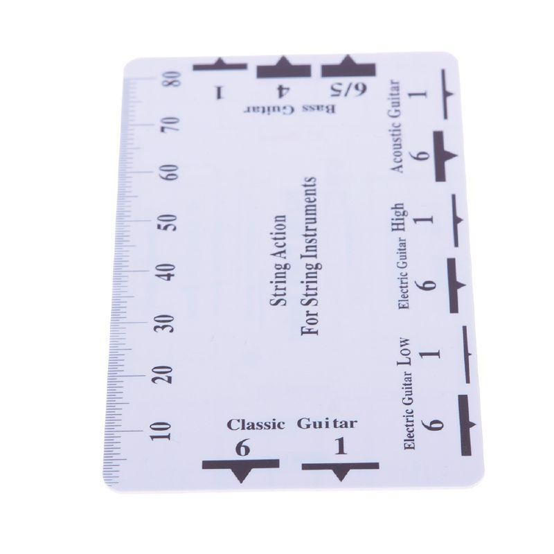 Guitar String Action Pitch Ruler Measuring Tool Bass Classical Electric Acoustic-1