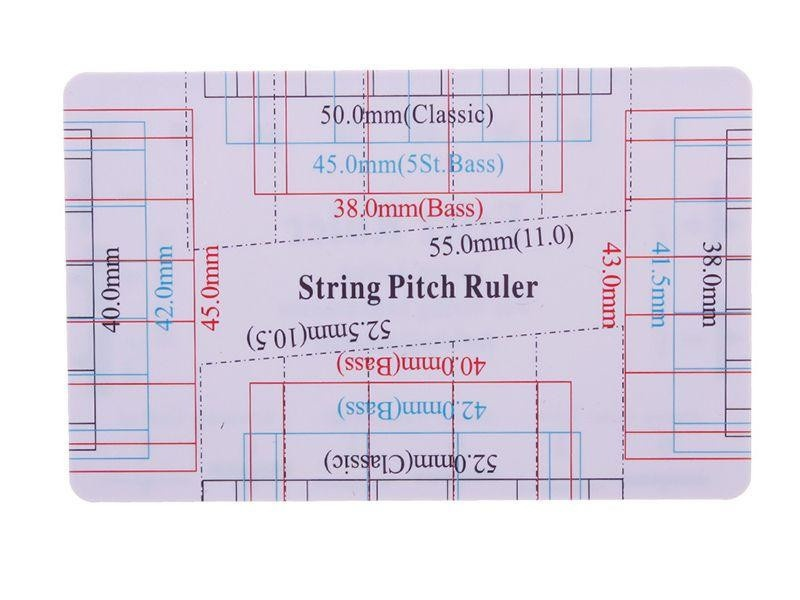 Guitar String Action Pitch Ruler Measuring Tool Bass Classical Electric Acoustic-2
