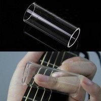 u39a-Electric Guitar String Plexiglass Resin Slide Glass Bottle Tube Clear
