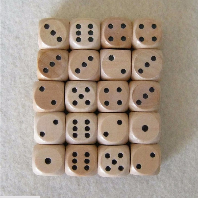 Fun 16mm Lot of 6 Wooden Dice Board Games Bar Party Toy-3
