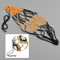 uYQD-Nylon Net Bag Ball Carry Mesh Basketball Football Soccer Game