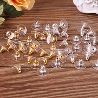wMSK-50Pcs Silver Earnuts Earring Backs Stoppers Findings