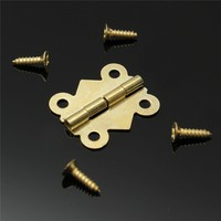 wcJ2-10pcs Fashion Design Brass Color Mini Butterfly Hinges Cabinet Drawer Jewelry Box DIY Repair