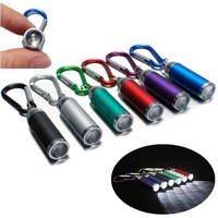 wlUI-Mini LED Convex Mirror Flashlight Lamp Keychain Light Torch Keyring