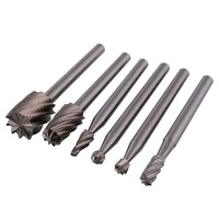 wmX3-6pcs Routing Router Grinding Wood Milling For Rotary Files Set Tool